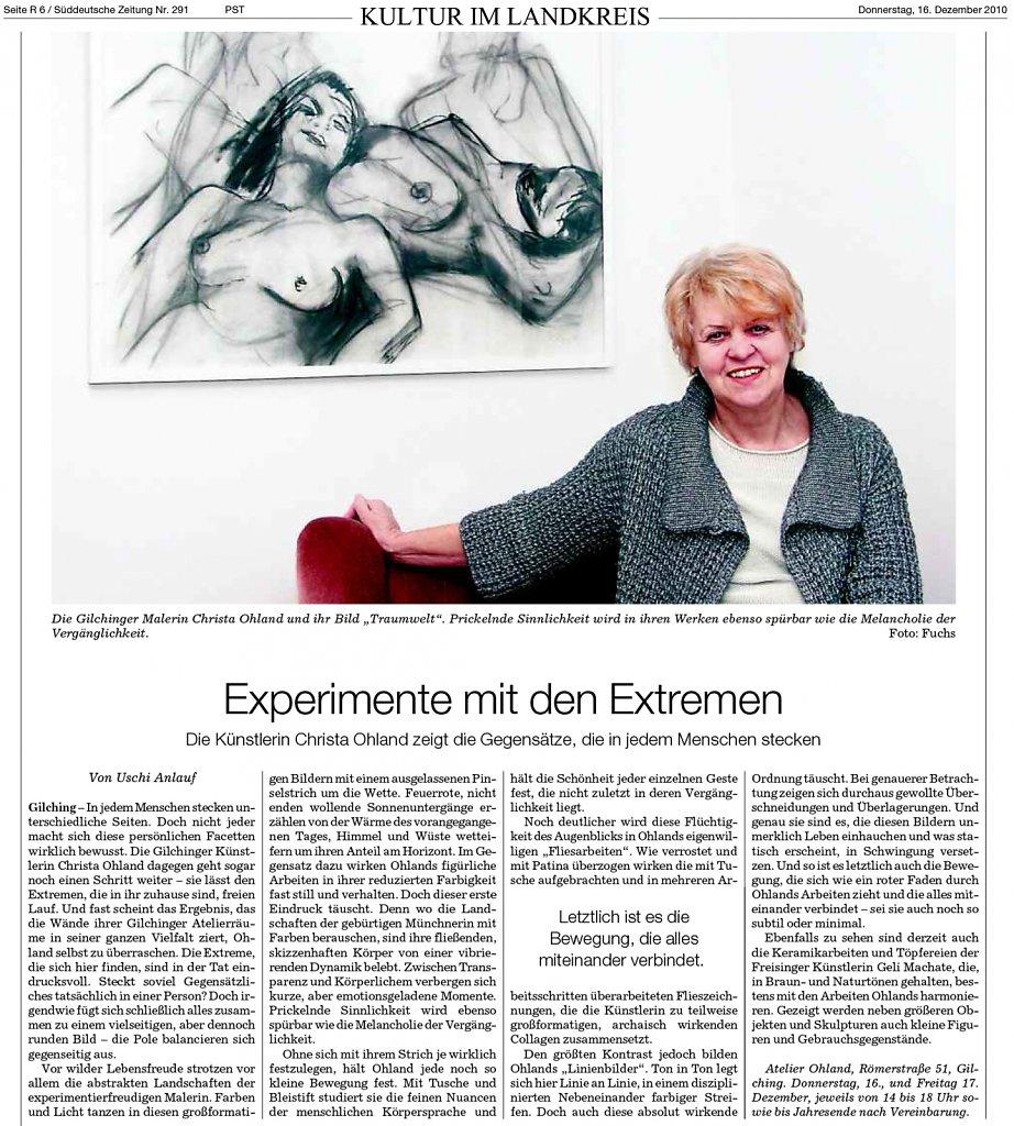 Süddeutsche Zeitung 16. Dezember 2010