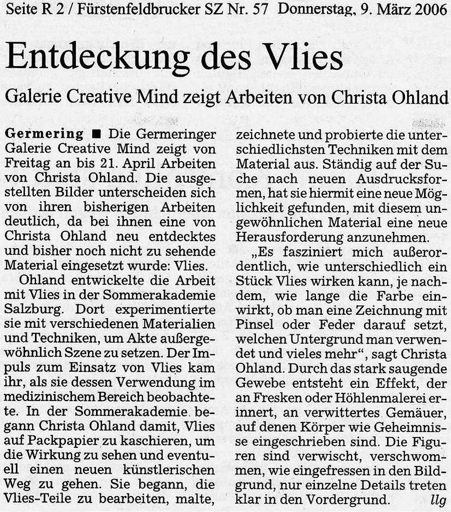 Süddeutsche Zeitung 9. März 2006
