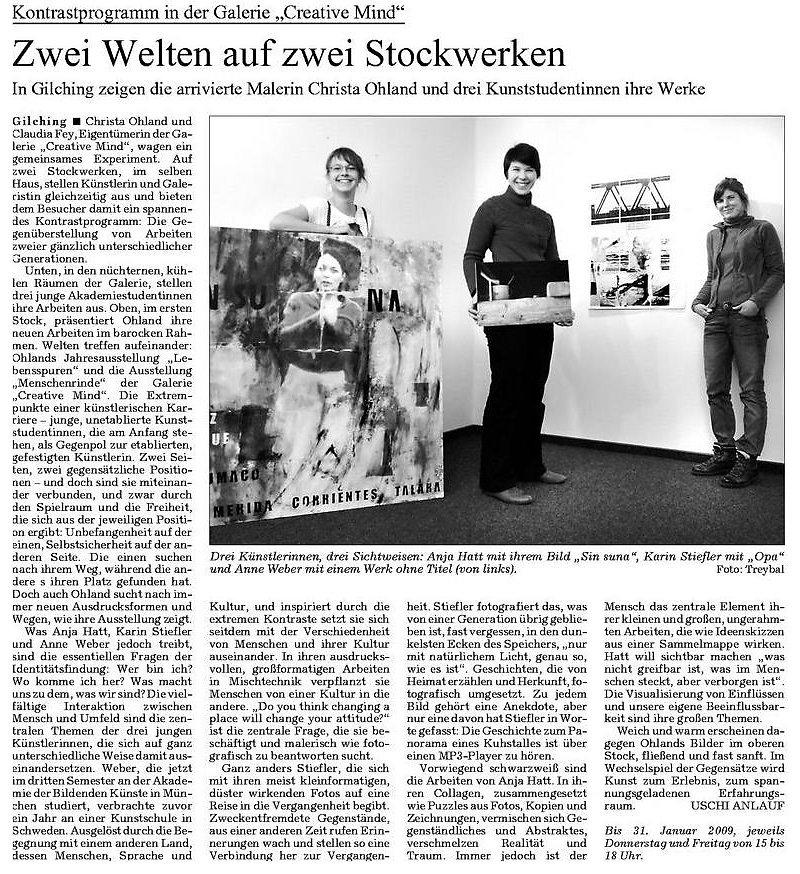 Süddeutsche Zeitung 10. Dezember 2008