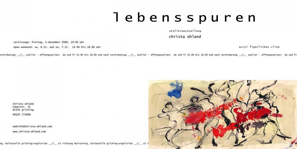 """Einladung Ausstellung """"lebensspuren"""""""