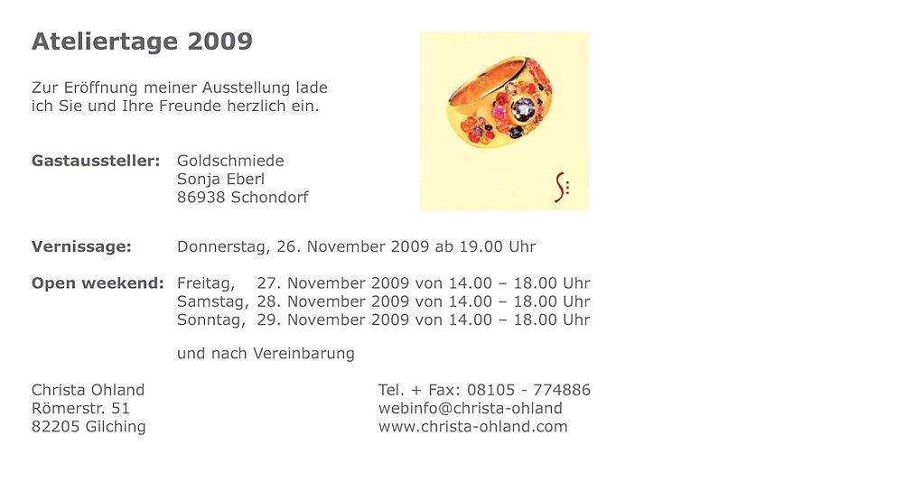 Einladungstext Werkschau 2009